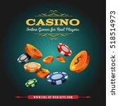 casino and gambling background  ... | Shutterstock .eps vector #518514973