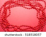 blurred red garland frame | Shutterstock . vector #518518057