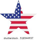 usa flag star | Shutterstock .eps vector #518544937