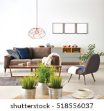 modern living room sofa and... | Shutterstock . vector #518556037