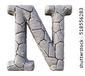 alphabet from the stones.... | Shutterstock . vector #518556283