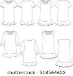 vector illustration of girl's... | Shutterstock .eps vector #518564623