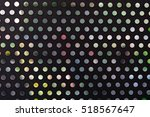 black metal surface with round... | Shutterstock . vector #518567647