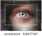 biometric security retina...   Shutterstock . vector #518577187