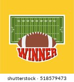 american football ball with... | Shutterstock .eps vector #518579473