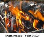 burning woods in a brazier... | Shutterstock . vector #51857962