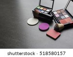 set of colorful cosmetics on... | Shutterstock . vector #518580157