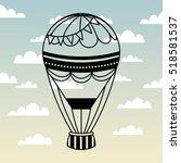 air balloon icon over sky... | Shutterstock .eps vector #518581537