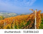 view on vineyards and small... | Shutterstock . vector #518586163