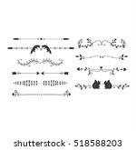 decorative vintage elements... | Shutterstock .eps vector #518588203