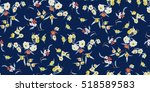 trendy seamless floral pattern... | Shutterstock .eps vector #518589583