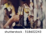 women friendship party... | Shutterstock . vector #518602243
