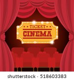theater ticket cinema golden | Shutterstock .eps vector #518603383
