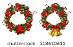 white card with christmas... | Shutterstock .eps vector #518610613