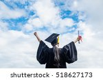 back view of graduate student... | Shutterstock . vector #518627173