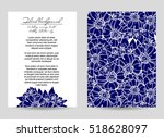 romantic invitation. wedding ... | Shutterstock .eps vector #518628097