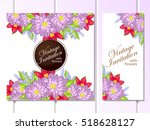 romantic invitation. wedding ... | Shutterstock .eps vector #518628127