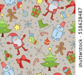 seamless pattern on the theme... | Shutterstock .eps vector #518628487