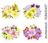 flower set | Shutterstock . vector #518632657