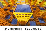 sustainability solar power city ... | Shutterstock . vector #518638963