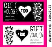vector gift voucher template... | Shutterstock .eps vector #518639233