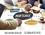 mortgage property residential... | Shutterstock . vector #518645143
