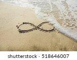 infinity symbol written on sand