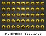 big set of vector web shiny... | Shutterstock .eps vector #518661433