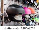ski helmet and ski goggles... | Shutterstock . vector #518662213
