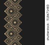 golden frame in oriental style. ... | Shutterstock .eps vector #518671483