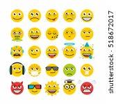set of emoticons | Shutterstock .eps vector #518672017