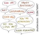 speech bubbles with original... | Shutterstock . vector #518676847