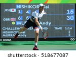 Small photo of RIO DE JANEIRO, BRAZIL - AUGUST 13, 2016: Olympic champion Andy Murray of Great Britain in action during men's singles semifinal of the Rio 2016 Olympic Games at the Olympic Tennis Centre