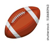 silhouette color with football... | Shutterstock .eps vector #518680963