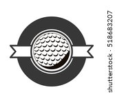 gray scale emblem with golf... | Shutterstock .eps vector #518683207