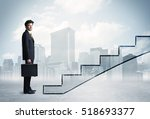 business person in front of a... | Shutterstock . vector #518693377