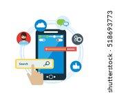 app concept flat design vector   Shutterstock .eps vector #518693773