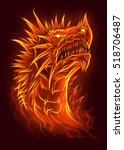 fire dragon head  | Shutterstock . vector #518706487