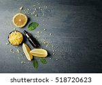 beautiful spa composition with... | Shutterstock . vector #518720623