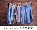 hangers with different male... | Shutterstock . vector #518723533