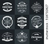 set of merry christmas and... | Shutterstock .eps vector #518732827