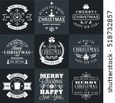 set of merry christmas and... | Shutterstock .eps vector #518732857