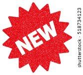 new sticker grainy textured... | Shutterstock . vector #518734123