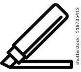 marker icon | Shutterstock .eps vector #518735413