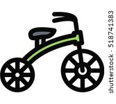 tricycle icon   Shutterstock .eps vector #518741383
