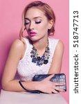 fashion studio photo of... | Shutterstock . vector #518747713