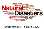natural disasters word cloud... | Shutterstock . vector #518750527