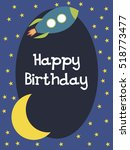 happy birthday card with space... | Shutterstock .eps vector #518773477