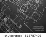 mechanical engineering drawing. ... | Shutterstock .eps vector #518787403