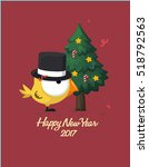 greeting christmas card. funny... | Shutterstock .eps vector #518792563